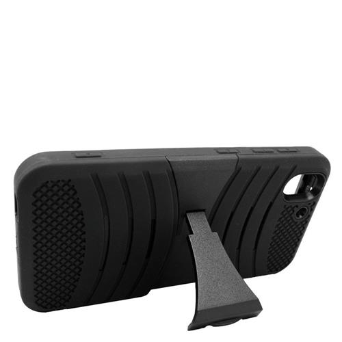 Insten Wave Hybrid Stand Rubber Silicone/PC Case For HTC Desire Eye, Black