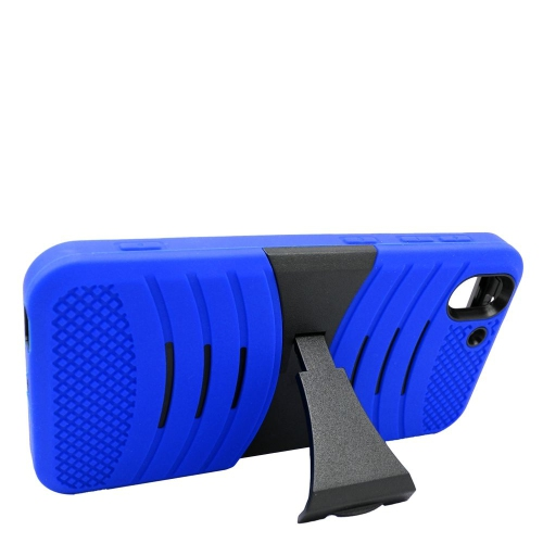 Insten Wave Hybrid Stand Rubber Silicone/PC Case For HTC Desire Eye, Blue/Black