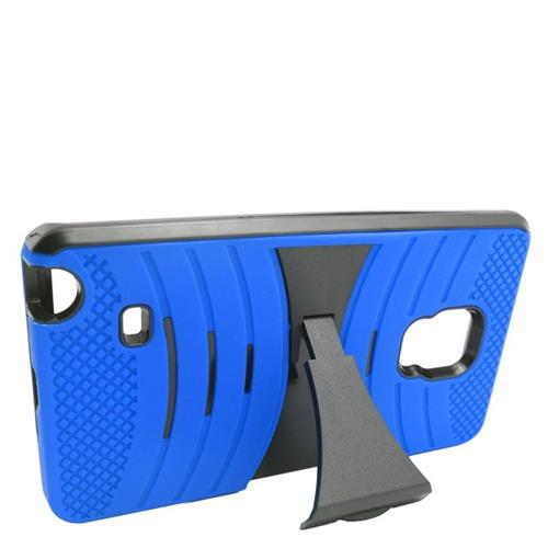 Insten Wave Hybrid Stand Rubber Silicone/PC Case For Samsung Galaxy Note Edge, Blue/Black
