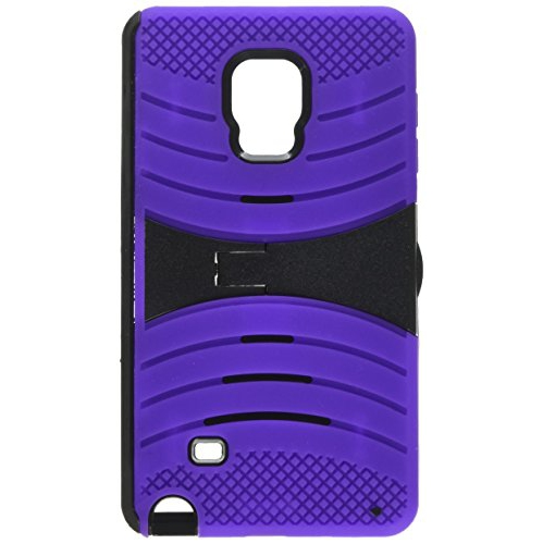 Insten Wave Hybrid Stand Rubber Silicone/PC Case For Samsung Galaxy Note Edge, Purple/Black