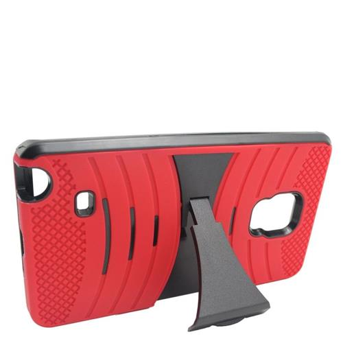 Insten Wave Hybrid Stand Rubber Silicone/PC Case For Samsung Galaxy Note Edge, Red/Black