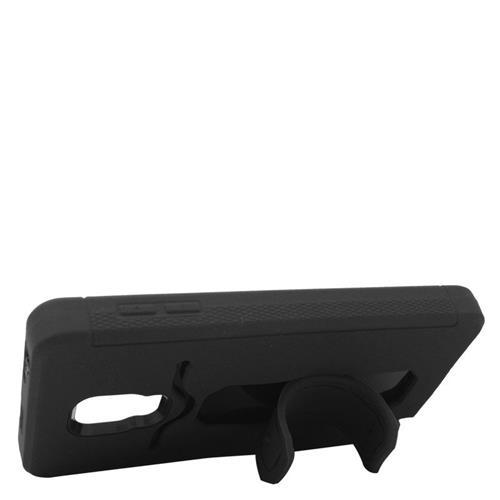 Insten Hybrid Stand Rubber Silicone/PC ID/Card Slot Case For Samsung Galaxy Note Edge, Black