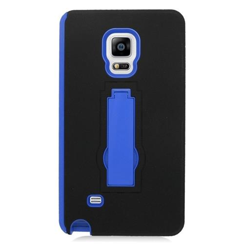 Insten Hybrid Stand Rubber Silicone/PC Case For Samsung Galaxy Note Edge, Black/Blue