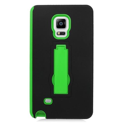 Insten Hybrid Stand Rubber Silicone/PC Case For Samsung Galaxy Note Edge, Black/Green