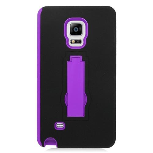 Insten Hybrid Stand Rubber Silicone/PC Case For Samsung Galaxy Note Edge, Black/Purple