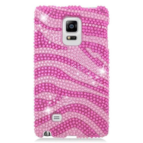 Insten Zebra Rhinestone Diamond Bling Hard Snap-in Case For Samsung Galaxy Note Edge, Pink/Hot Pink