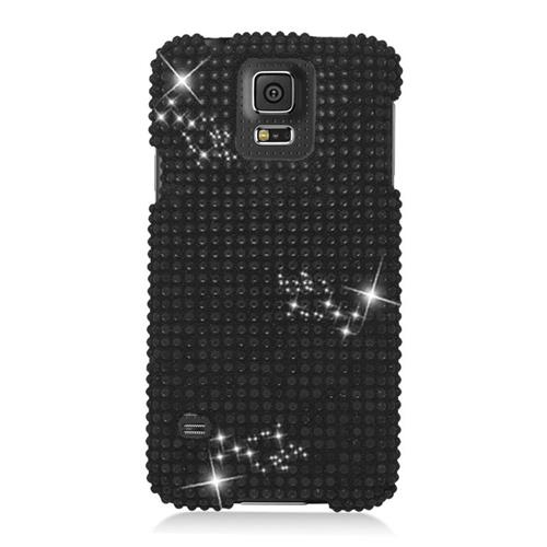 Insten Fitted Hard Shell Case for Samsung Galaxy S5 - Black