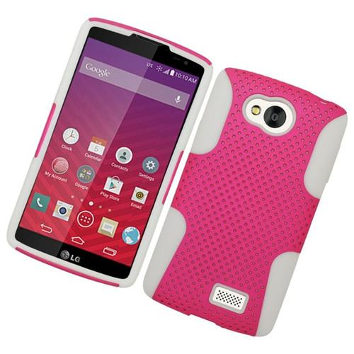 Insten Astronoot Hybrid PC/TPU Rubber Case For LG Tribute, Hot Pink/White