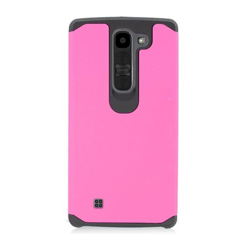 Insten Hybrid Rubberized Hard PC/Silicone Case For LG Volt 2, Pink/Black