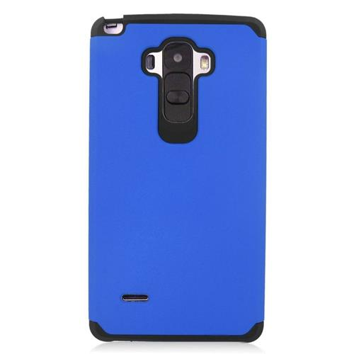 Insten Hybrid Rubberized Hard PC/Silicone Case For LG G Stylo LS770/G Vista 2, Blue/Black