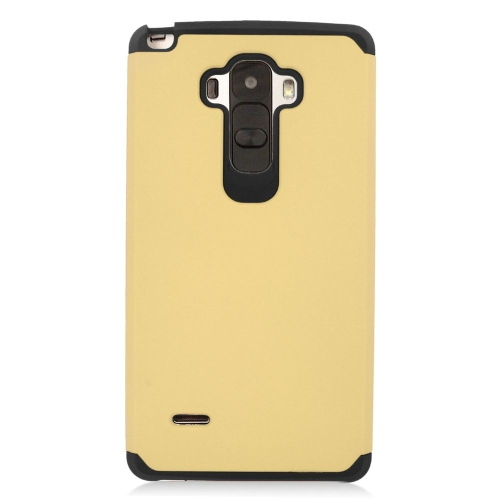 Insten Hybrid Rubberized Hard PC/Silicone Case For LG G Stylo LS770/G Vista 2, Gold/Black