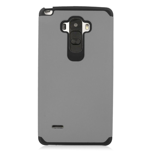 Insten Hybrid Rubberized Hard PC/Silicone Case For LG G Stylo LS770/G Vista 2, Gray/Black