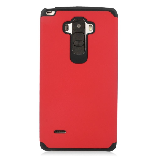 Insten Hybrid Rubberized Hard PC/Silicone Case For LG G Stylo LS770/G Vista 2, Red/Black