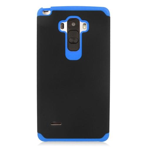 Insten Hybrid Rubberized Hard PC/Silicone Case For LG G Stylo LS770/G Vista 2, Black/Blue