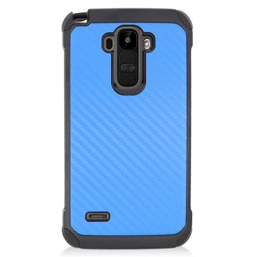 Insten Carbon Fiber Hybrid Hard PC/Silicone Case For LG G Stylo LS770/G Vista 2, Blue/Black
