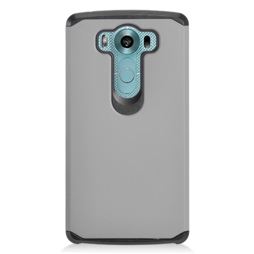 Insten Dual Layer Hybrid Rubberized Hard PC/Silicone Case Cover Compatible With LG V10, Gray/Black