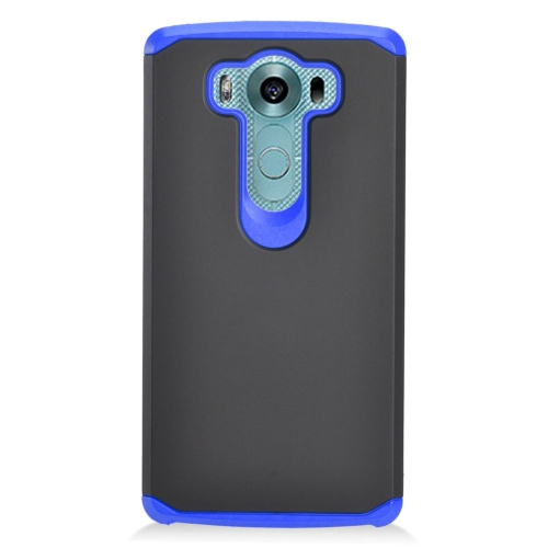 Insten Dual Layer Hybrid Rubberized Hard PC/Silicone Case Cover Compatible With LG V10, Black/Blue
