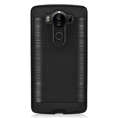 Insten Dual Layer Hybrid Rubberized Hard PC/Silicone Case Cover Compatible With LG V10, Black
