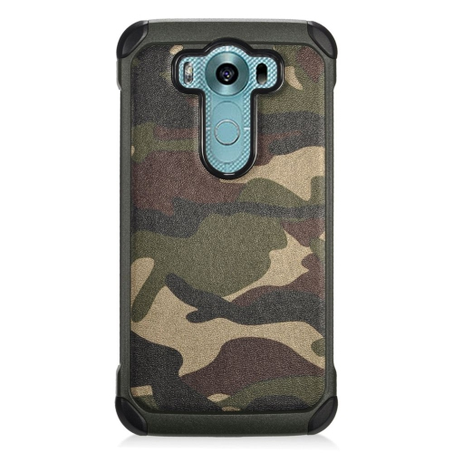 Insten Camouflage Hybrid Rubberized Hard PC/Silicone Case For LG V10, Green/Black