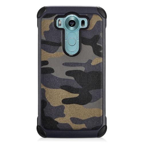 Insten Camouflage Hybrid Rubberized Hard PC/Silicone Case For LG V10, Gray/Black