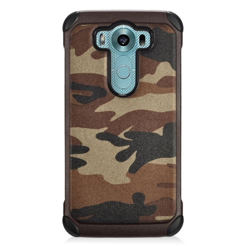 Insten Camouflage Hybrid Rubberized Hard PC/Silicone Case For LG V10, Brown/Black