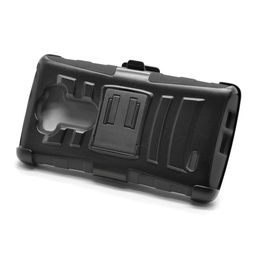 Insten Dual Layer Hybrid Stand PC/Silicone Holster Case Cover Compatible With LG G Flex 2, Black