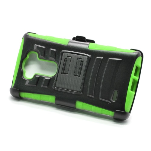 Insten Hybrid Stand PC/Silicone Holster Case For LG G Flex 2, Black/Green