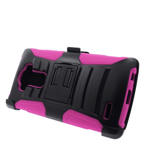 Insten Holster Case for LG G4 - Hot Pink;Black