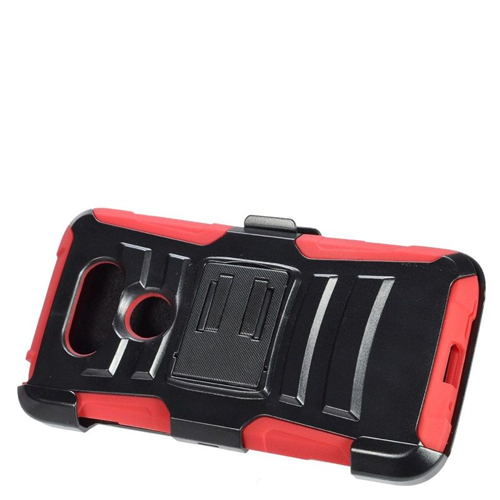 Insten Dual Layer Hybrid Stand PC/Silicone Holster Case Cover Compatible With LG G5, Black/Red