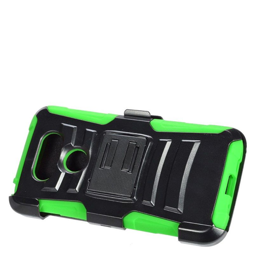 Insten Dual Layer Hybrid Stand PC/Silicone Holster Case Cover Compatible With LG G5, Black/Green