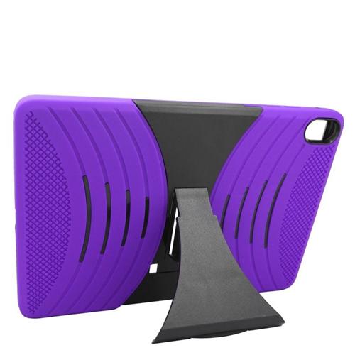 Insten Wave Hybrid Stand Rubber Silicone/PC Case For HTC Google Nexus 9, Purple/Black