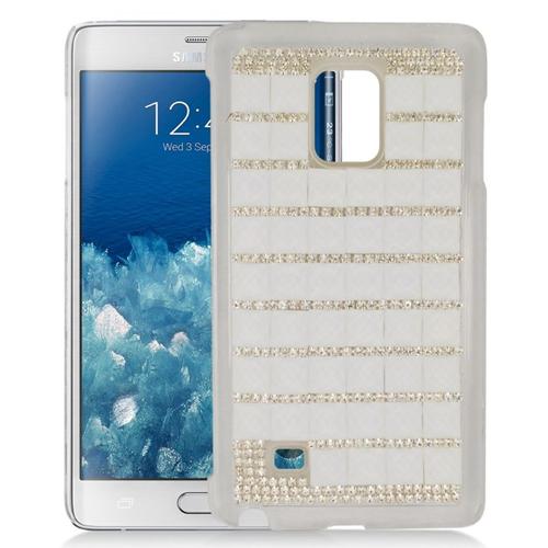 Insten Checker Rhinestone Diamond Bling Hard Snap-in Case For Samsung Galaxy Note Edge, White
