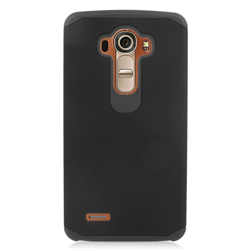 Insten Dual Layer Hybrid Rubberized Hard PC/Silicone Case Cover Compatible With LG G4, Black