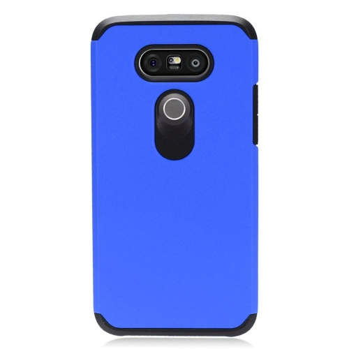 Insten Dual Layer Hybrid Rubberized Hard PC/Silicone Case Cover Compatible With LG G5, Blue/Black