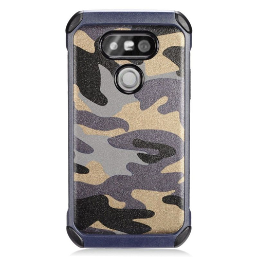Insten Camouflage Hybrid Rubberized Hard PC/Silicone Case For LG G5, Gray/Black
