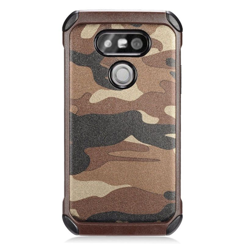 Insten Camouflage Hybrid Rubberized Hard PC/Silicone Case For LG G5, Brown/Black