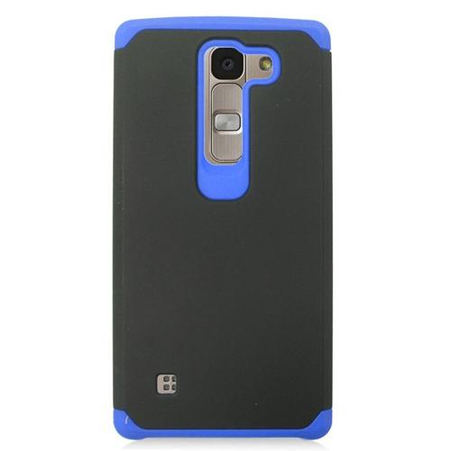 Insten Hybrid Rubberized Hard PC/Silicone Case For LG Escape 2 H443 / H445, Black/Blue