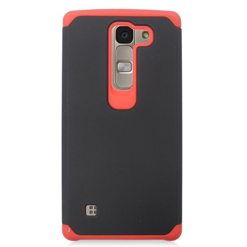 Insten Hybrid Rubberized Hard PC/Silicone Case For LG Escape 2 H443 / H445, Black/Red