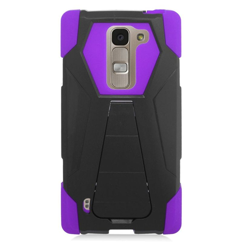 Insten Hybrid Stand PC/Silicone Case For LG Escape 2 H443 / H445, Purple/Black