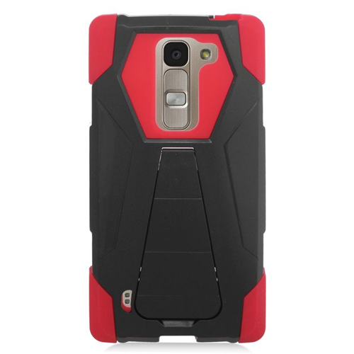 Insten Hybrid Stand PC/Silicone Case For LG Escape 2 H443 / H445, Black/Red
