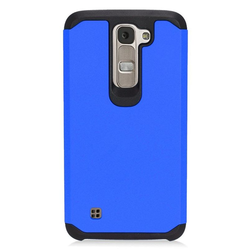 Insten Hybrid Rubberized Hard PC/Silicone Case For LG K7 Tribute 5, Blue/Black