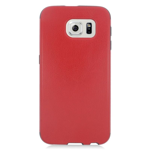 Insten Leather Case Cover Compatible With Samsung Galaxy S6 SM-G920, Red/Black