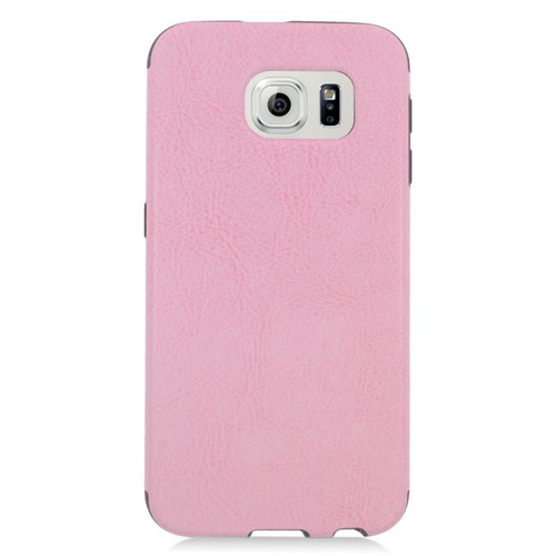 Insten Leather Case Cover Compatible With Samsung Galaxy S6 SM-G920, Pink/Black
