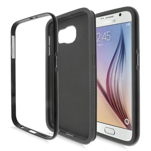 Insten Hybrid TPU Rubber Candy Skin Case For Samsung Galaxy S6 SM-G920, Black