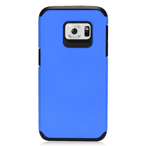 Insten Hybrid Rubberized Hard PC/Silicone Case For Samsung Galaxy S7, Blue/Black
