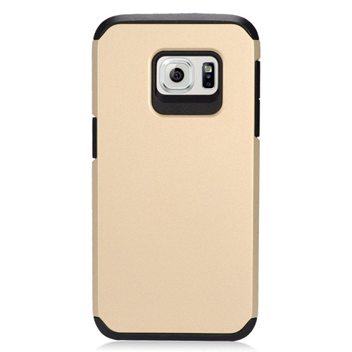 Insten Hybrid Rubberized Hard PC/Silicone Case For Samsung Galaxy S7, Gold/Black