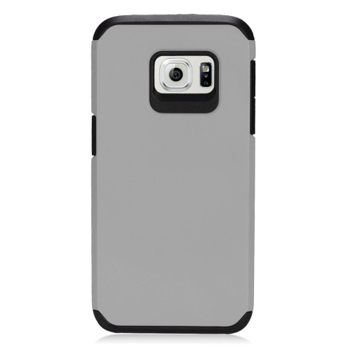 Insten Hybrid Rubberized Hard PC/Silicone Case For Samsung Galaxy S7, Gray/Black