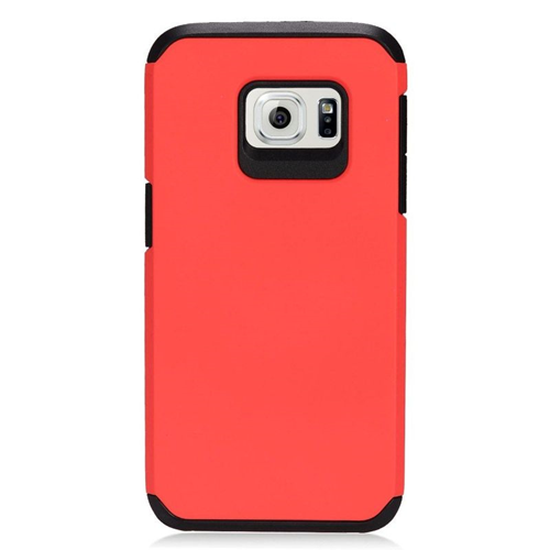 Insten Hybrid Rubberized Hard PC/Silicone Case For Samsung Galaxy S7, Red/Black