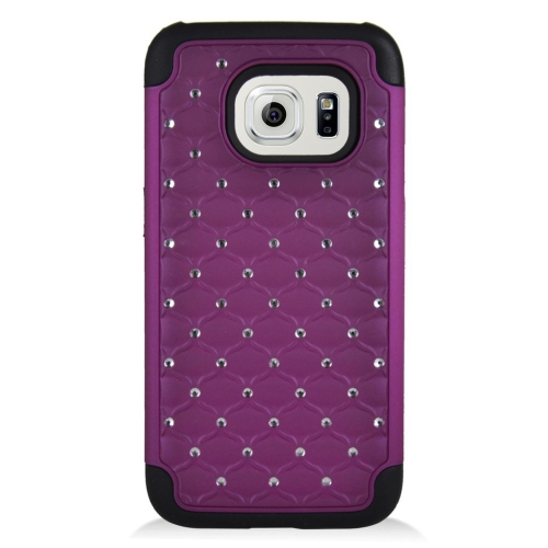 Insten Fitted Soft Shell Case for Samsung Galaxy S7 - Black;Purple