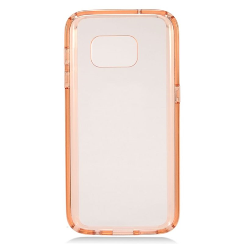 Insten TPU Rubber Candy Skin Case Cover Compatible With Samsung Galaxy S7, Rose Gold/Clear